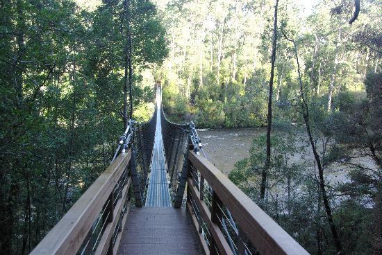 Tasmania, Australia: 铁索桥
