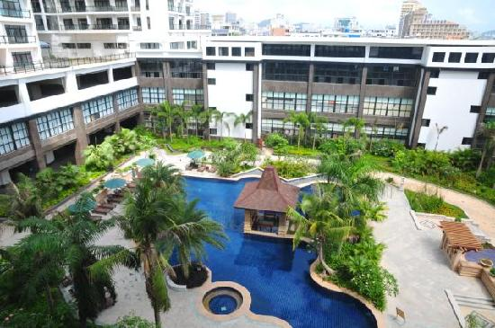 Blue Store Seaview Apartment Sanya Golden Phoneix: 游泳池