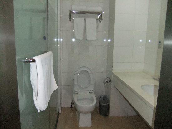 Hanting Inns & Hotels (Dalian Heishijiao) : 酒店房间~卫生间