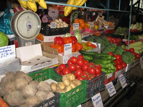 Krasnodar, Rosja: green grocery