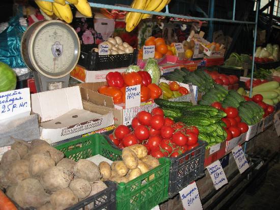 Krasnodar, Rusland: green grocery
