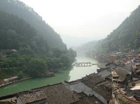 Muxiyuan Family Inn: 这是在沐曦园俯瞰的感觉哦~
