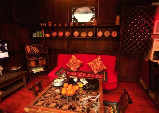 Ledao Hostel : 休闲区,集茶室,电影放映一体