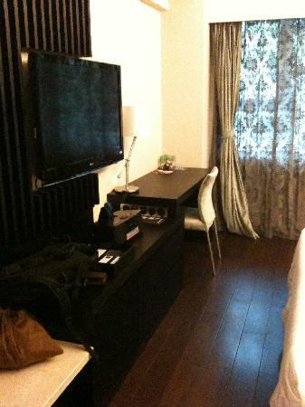 Crystal Orange Hotel Beijing Jianguomen: 酒店房间-电视机