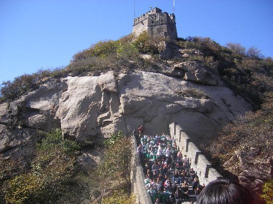 The Great Wall at Badaling: 远眺长城