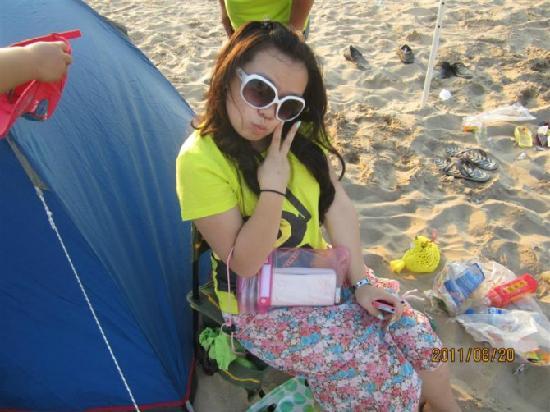 Jade Island: 海边帐篷边