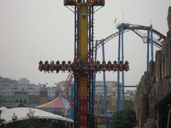 Hangzhou Songcheng Xianghu scenic spot : 这个跳楼机比以前更加刺激了