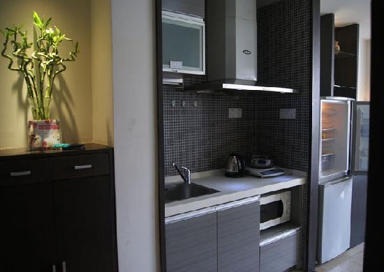 Kaibin Service Apartment (Jinling Wangfu): 厨房