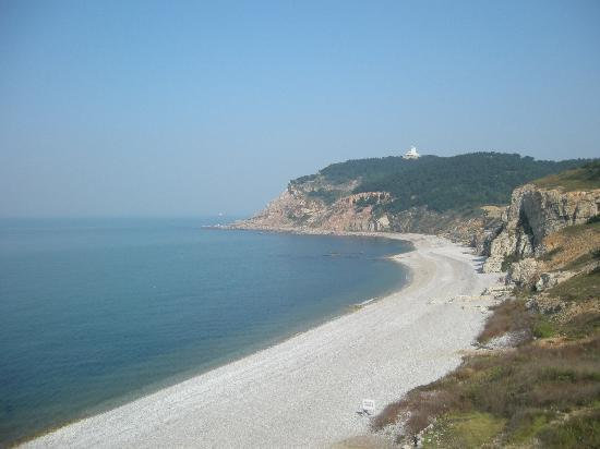 Changdao County, China: 九丈崖景区的海滩