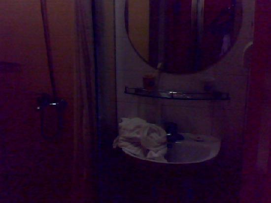 Home Inn (Beijing Anzhen): 卫生间洗漱区和淋浴区