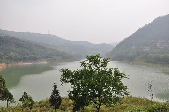 Jingyugou Scenic Resort, Xi'an: 鲸鱼沟鸟瞰