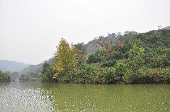 Jingyugou Scenic Resort, Xi'an: 湖景2