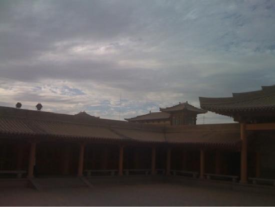 โรงแรมเดอะซิลค์โร้ดตันหวง: 酒店里院