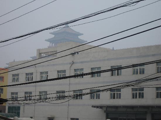 Da Fang Hotel: 站在饭店门前往西看