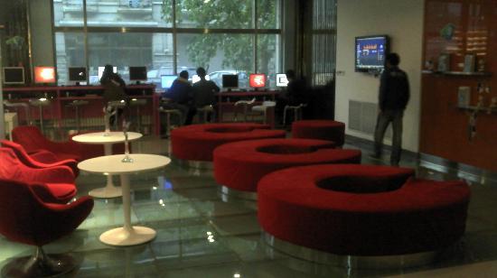 Hanting Hi Inn Harbin Convention Center : 大堂休闲沙发区