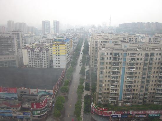 VIP Floor,Sixteen And Seventeen Floor,Dongfangjiezuo Hotel: 窗外全景