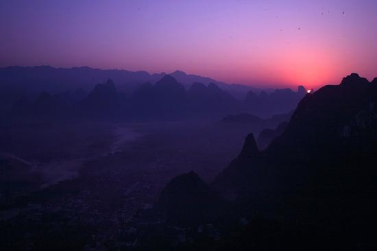 Guilin Laozhai Mountain: 日出老寨山
