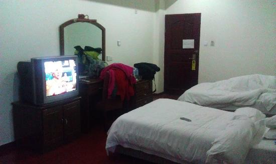 Civil Aviation Julong Airport Hotel: 卧室