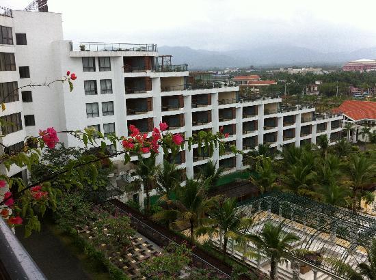 Xinglong Old Banyan Tree Hot Spring Resort : 从5区的房间阳台看对面也也不知道是几区