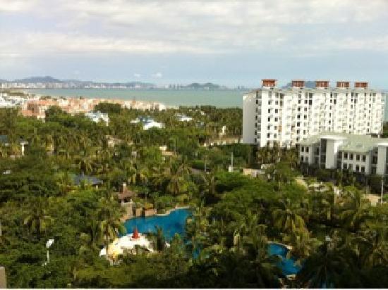 Rujia Seascape Hotel Sanya Yefeng Haiyun: 阳台远眺