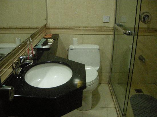 Lushan Hotel (Hexi Road) : 洗脸盆的管子不是很牢靠,有时居然会掉下来