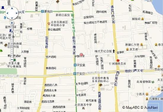 Huguosi Hotel: 地图