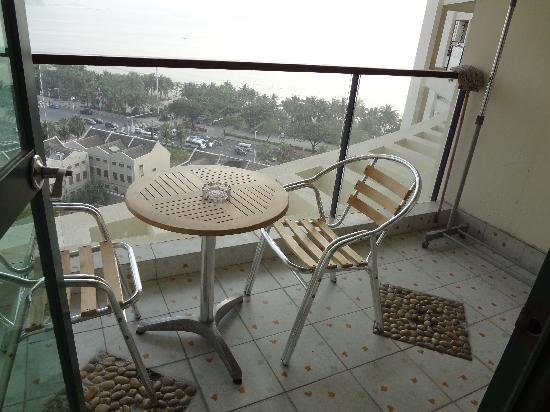 Romantic Seaview Apartment Sanya Lanhai Garden: 阳台