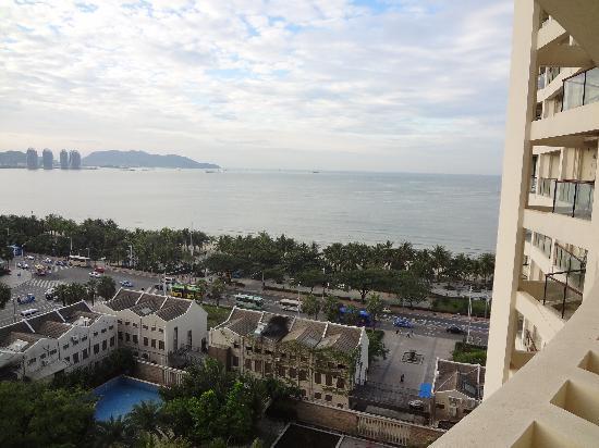 Romantic Seaview Apartment Sanya Lanhai Garden: 看得见海景的阳台