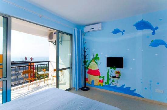 Shell Hostel Sanya: 海景阳台房