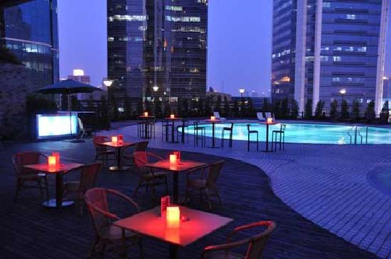 Grand Trustel Purple Mountain Hotel: 户外屋顶泳池