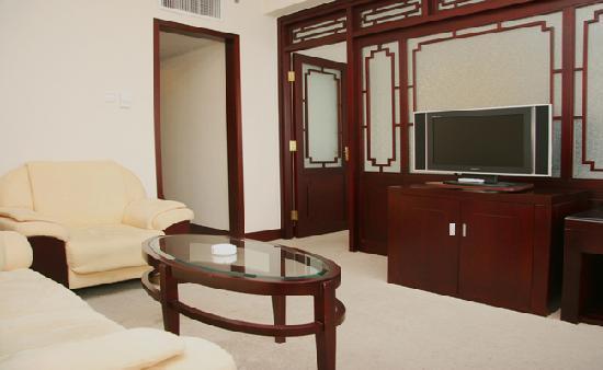 Beijing Yuanshan Hotel : 客房大床