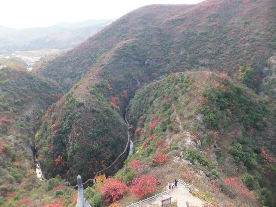 Shiyan, China: 从太极阁上看天然太极图