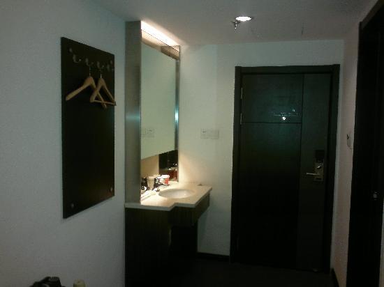 Jiahe International Express Hotel: 房间门廊