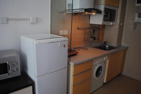 Sidijia Service Apartment Shanghai Shengtiandi: 都市家园圣天地店洗衣机