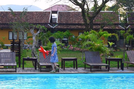 Villa Vang Vieng Riverside: 游泳池