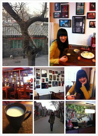 Hutong Impressions Beijing Guesthouse : 清晨的印象,早餐时段!窗外就是四合院!!