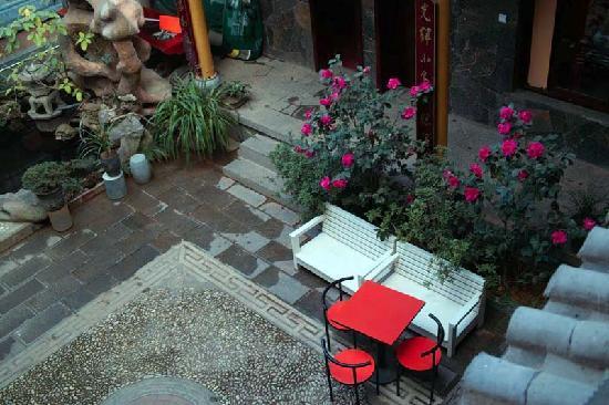 Haiyuelou hostel: 俯瞰院落