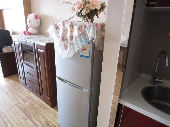 Yijing Huayuan Serviced Apartment: 有冰箱,夏天长期居住挺好的