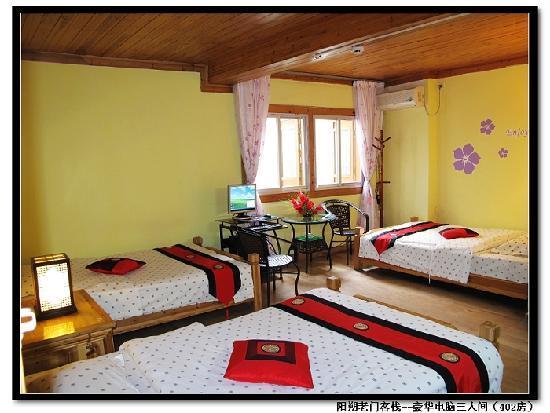 Laomen Inn Yangshuo: 豪华三人间(402房)