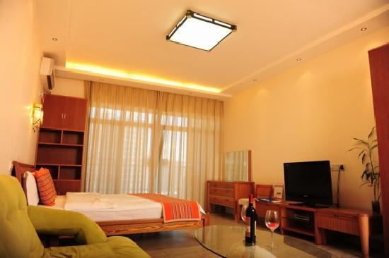 Xiaoyaoxuan Seaview Apartment Sanya Bay : 高级海景大床房