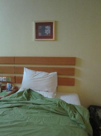 Home Inn Wuhan Xudong Youyi Avenue: 绿色被套