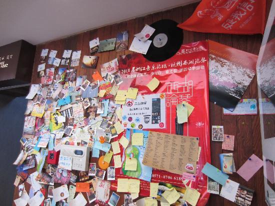 Hangzhou Hansen Books Music Hotel: 留言墙