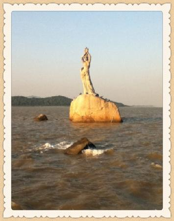 Statue of Fisher Girl: 夕阳渔辉