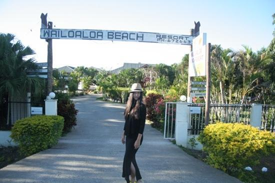 Wailoaloa Beach Resort Fiji : 酒店门口