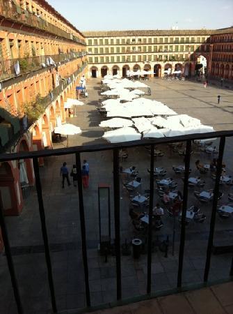 Hostel La Corredera: 这些啤酒摊子要到凌晨三点以后才结束