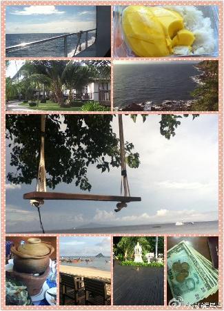 Holiday Inn Resort Phi Phi Island: 第二排第一张是酒店的小木屋房,大图为海边秋千,最后一排第二张为酒店海边酒吧