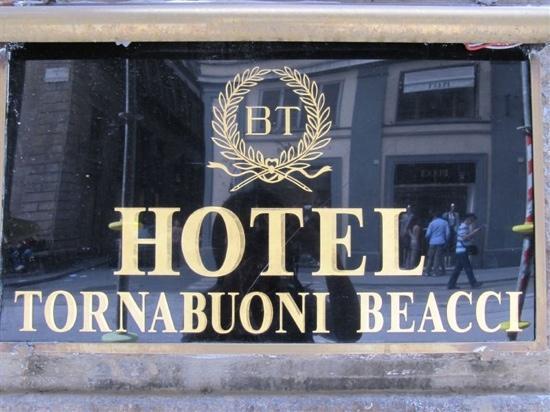 Hotel Tornabuoni Beacci: 标识