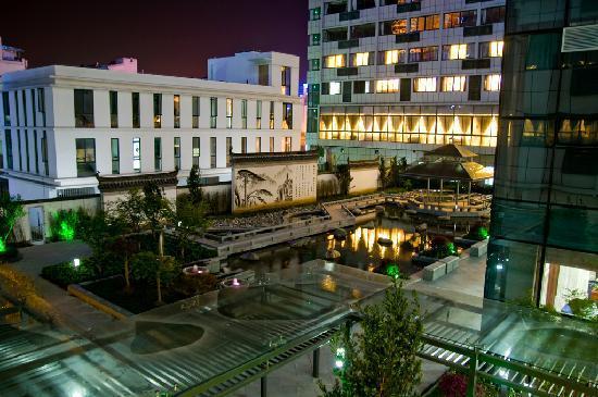 Huangshan Tiandu International Hotel: 饭店内庭院