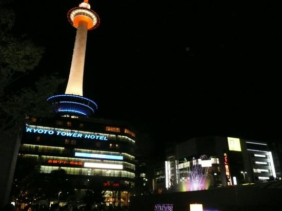 Kyoto Tower Hotel: 夜景