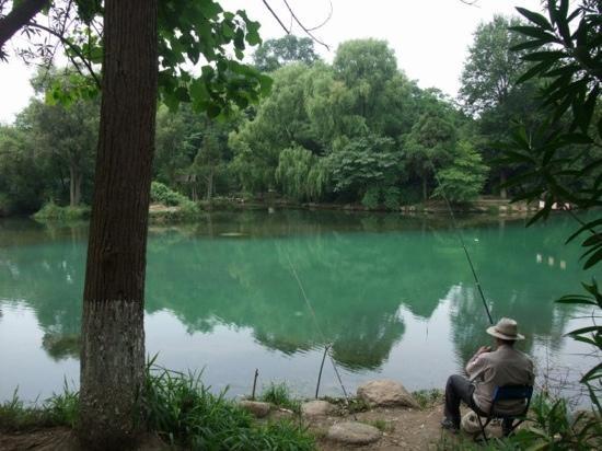 Huaxi Park: 花园的钓鱼者